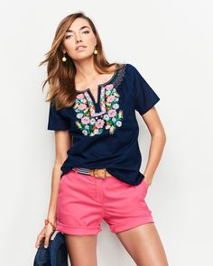 An embroidered top is the perfect stand out piece for your summer wardrobe.
