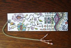 Swapbot - Zentangle Bookmark sent by tuscaloosa_designs, via Flickr
