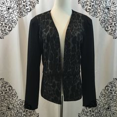 Cynthia Rowley Blazer Black and charcoal gray color blazer. Clasp hook front closure. Size L great condition! Cynthia Rowley Jackets & Coats Blazers