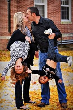 Cute family picture--actually well executed here