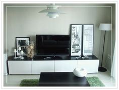 The Ikea Besta, white with black top