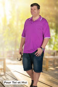 Polo fashion pour homme grande taille A découvrir dans notre boutique. #homme #grandetaille#style#été#moderne Polo Shirt, Polo Ralph Lauren, Mens Tops, Shirts, Style, Fashion, Mens Big And Tall, Plus Sized Clothing, Man Women