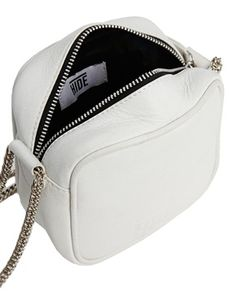 Image 2 of HIDE Leather Camera Bag in White