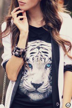 FashionCoolture 18.03.2013 look du jour Amarena toger t-shirt blazer preto e branco Romwe Asos (3)