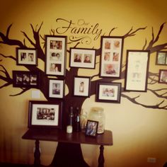 Family tree mural painted on the wall. Very similar to the one Cassidy and I painted this week. Can't wait to get the pictures hung!