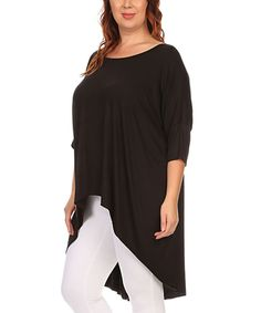 Take a look at this Black Hi-Low Tunic - Plus today!