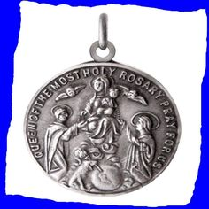 St. Dominic Patron Saint of Astronomers Vintage Religious Sterling Silver Charm
