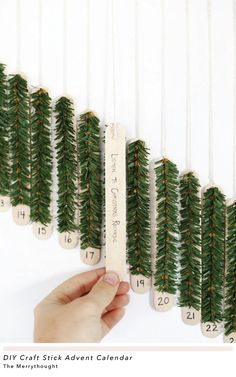 DIY Craft Stick Advent Calendar