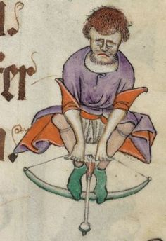 Detail from The Luttrell Psalter, British Library Add MS 42130 (medieval manuscript,1325-1340), f54r