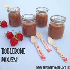 Mmmmm. Toblerone chocolate mousse recipe. Perfect dessert for sweet and dessert tables. x
