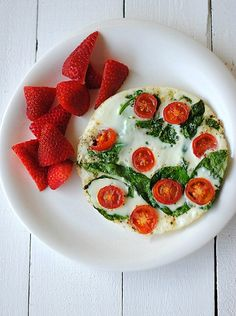 Spinach & Egg White Omelet #healthy #weightwatchers #protein