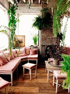 indretning med Planter.