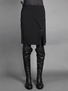 The cross over straight skirt by Ann Demeulemeester skirt
