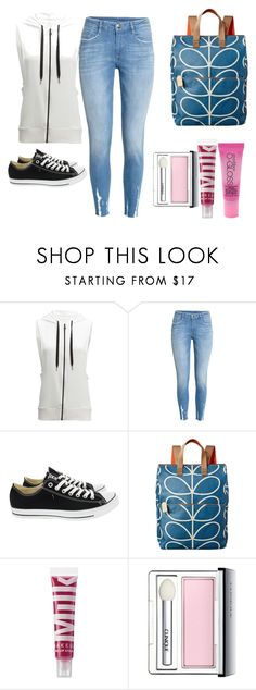 """""""College Girl"""" by vanillabean224 ❤ liked on Polyvore featuring Beyond Yoga, H&M, Converse, Orla Kiely, MILK MAKEUP, Clinique and Smashbox"""