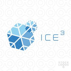 Two merged snowflakes that share one common arm, one is significantly smaller than the other, and positioned in such a way that the whole shape resembles a number and an exponent. Additionally, the arms of both snowflakes create three sides of respective cubes, which is referred to in the name - Ice Cubed.