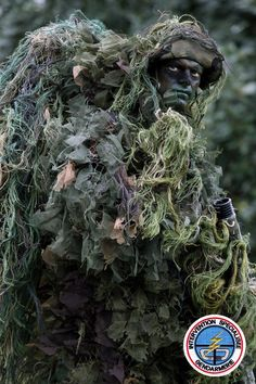 Military Gear, Military Weapons, Special Ops, Special Forces, Camouflage Face Paint, Usaf Pararescue, Sniper Camouflage, Ghillie Suit, Airsoft