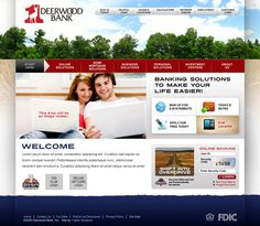 Web design for Deerwood Bank(Concept 1) . Faster Solutions: www.fastersolutions.com
