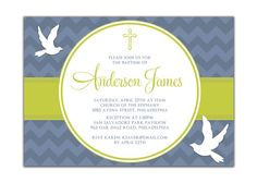 Hey, I found this really awesome Etsy listing at https://www.etsy.com/listing/89675523/baptism-invitation-modern-chevron
