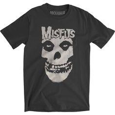 Misfits Distressed Skull Slim Fit T-shirt MD - Distressed T Shirt - Ideas of Distressed T Shirt - Misfits Distressed Skull Slim Fit T-shirt MD Metal Shirts, Rock Shirts, Skull Shirts, Band Shirts, Collar Shirts, Neck T Shirt, Shirt Men, Iron Maiden T Shirt