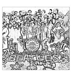 To print this free coloring page «coloring-the-beatles-sgt-peppers-lonely-hearts-club-band», click on the printer icon at the right