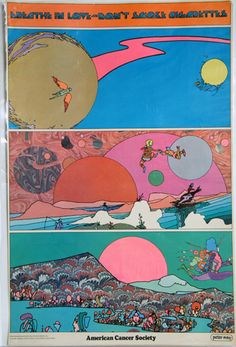 Mod •~• vintage Peter Max American Cancer Society poster