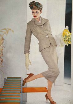 Anne St Marie, February Vogue 1956