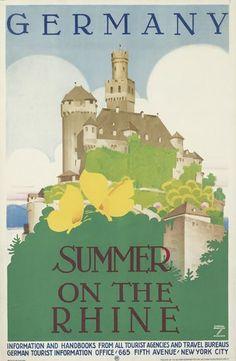 Ludwig Hohlwein (1874-1949). Germany/Summer on the Rhine. Circa 1935...someday I shall go!