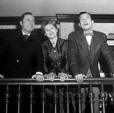 "oldhollywoodfilms: "" Charles Boyer, Ingrid Bergman, and Joseph Cotten on the set of Gaslight (1944). """