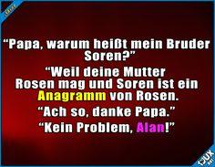 Anagramme sind toll... meistens #Anagramm #Witze #lustige #Sprüche #Humor #Jodel #lachen #Statusbilder