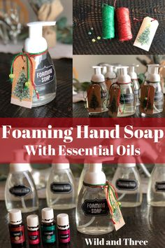 Oil Foaming Hand Soap Recipe and instructions for making foaming hand soap with essential oils.Recipe and instructions for making foaming hand soap with essential oils. Essential Oils Christmas, Essential Oils For Pain, Doterra Essential Oils, Young Living Essential Oils, Diy Gifts With Essential Oils, Homemade Hand Soap, Homemade Soap Recipes, Natural Cleaning Products, Brain