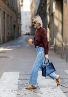 b947a47c18a7 Flare Jeans + Burgundy Sweater    Fall Outfit Idea