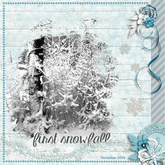 Class: Design Beautiful Pages at Digital Scrapper Tutorial: Mastering Mask Potential by Jen White  Photo: Lori Gaudreau Template: Digital Scrapper #20 Kit: Winter Bliss by Kristin Cronin-Barrow Fonts: KG Manhattan Script Regular
