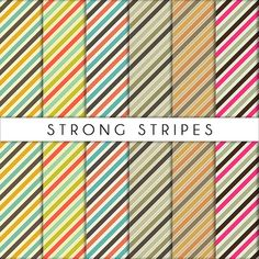 Strong Stripes collection - set di carta per scrapbooking
