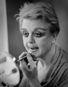 Angela Lansbury applies her makeup for Sweeney Todd: The Demon Barber Of Fleet Street - Rivka Katvan (1979)