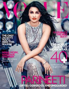 Vogue India, February Parineeti Chopra on the Magazine Cover. Bollywood Stars, Bollywood Fashion, Bollywood Actress, Bollywood News, Vogue Magazine Covers, Vogue Covers, Parneeti Chopra, Vogue India, Cover Model