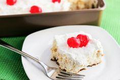 Skinny Pina Colada Poke Cake