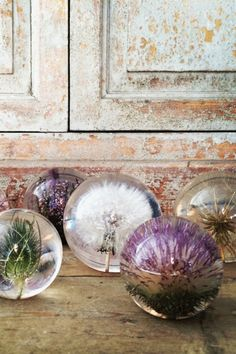 These would be amazing christening gifts (the dandelion for whiches for the baby's life)