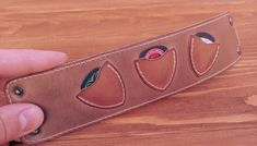 Leather Projects, Leather Crafts, Guitar Picks, Guitar Pick Art, Leather Guitar Straps, Musician Gifts, Guitar Strings, Pouch, Wallet