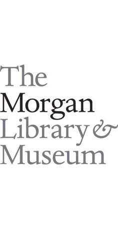 Collection of artistic, literary and musical work founded by J.P. Morgan in 1906. Identity by Michael Bierut.