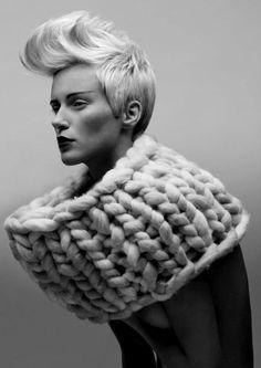 Caroline Munro  Would be fun to make this chunky knit snood with Loopy Mango Big Loop yarn loopymango.com