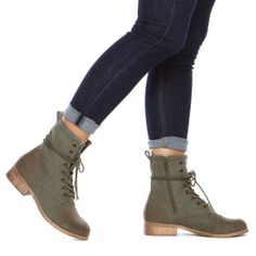 Wayne Lace-up Combat Boots ~ My teen-age style.