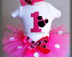 1st Birthday Minnie Outfit, Minnie Mouse Birthday, 1st Tutu Outfit, Minnie 1st Birthday, Minnie Tutu, 1st Birthday Minnie Mouse, Minnie Tutu
