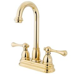 Elements of Design Double Handle Centerset Bar Faucet with Buckingham Lever Handles Finish: Polished Brass