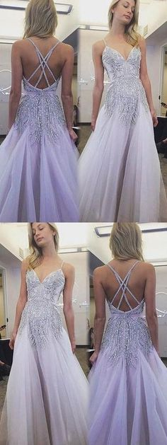 Sexy Spaghetti Straps Prom Dress, Tulle Party Dress,