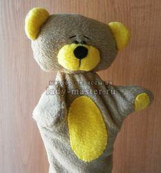 Перчаточная кукла Медвежонок своими руками, мастер - класс с фото, пошагово