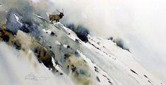 """Sunlit Mist,"" watercolor by by Morten E Solberg Sr. Watercolor Artists, Watercolor Animals, Abstract Watercolor, Watercolor Paintings, Watercolour, Watercolor Ideas, Wildlife Art, Sculpture, Animal Paintings"