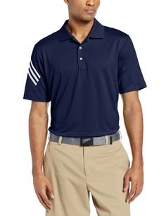 Amazon.com: adidas Golf Men's Puremotion Climacool 3-Stripes Sleeve Polo, White/Bahia Magenta, Medium: Sports & Outdoors
