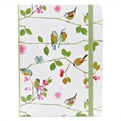 Watercolor Birds Journal. Love the design   #indigo #perfectsummer