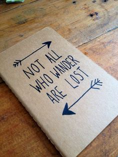 Not All Who Wander Are Lost Moleskine Plan   Notebook by ThriftBoxUK