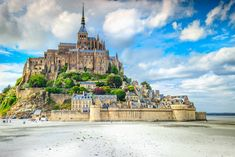 Beautiful Mont Saint Michel cathedral on the island, Normandy, Northern France, Europe , Places In Europe, Places To Go, Belgium Europe, France Europe, France Travel, Day Trip From Paris, Seaside Village, Excursion, Mont Saint Michel